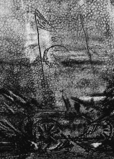 Après la bataille Eau forte et aquatinte Plaque 34 x 20 cm © Daniel GIRAULT