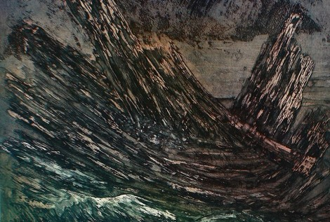 Bois flottés Gravure Eau forte et aquatinte 42x45 © Daniel GIRAULT