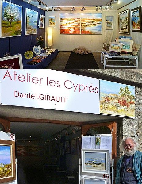 Daniel GIRAULT Galerie Atelier les Cyprès Pont-Aven