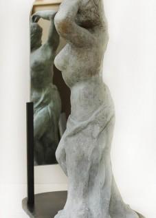 Psychée Bronze et miroir 40x35x19 © Daniel GIRAULT