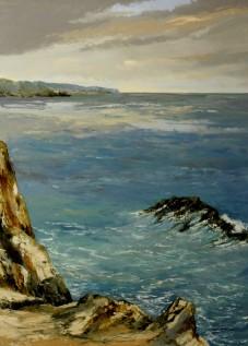 Du coté de Quiberon Huile sur toile 130 x 97 cm © Daniel GIRAULT